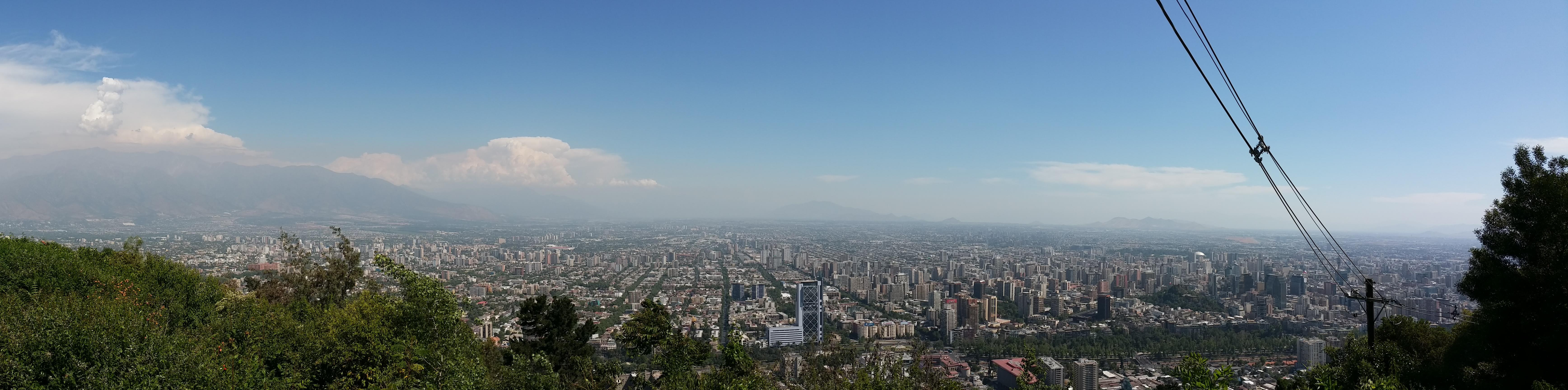 Aussicht Santiago