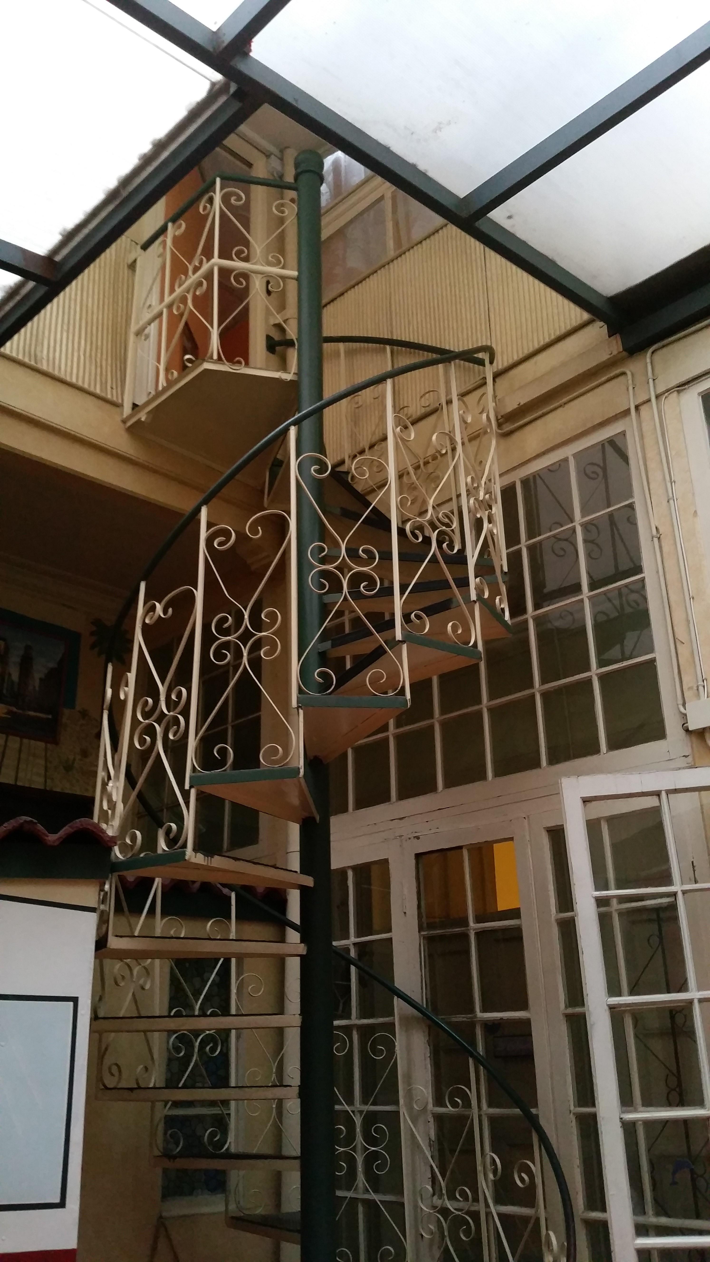 Treppe im Hostal